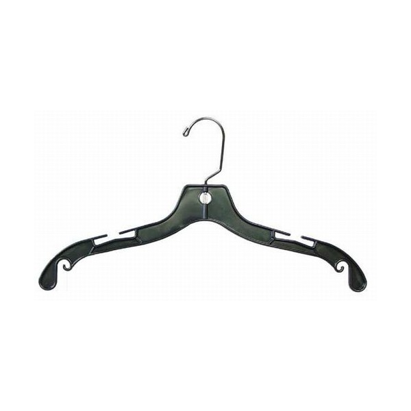 Plastic Dress Hanger Black Image